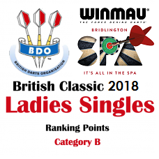 BDO British Classic Ladies Singles 2018